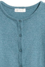 Fine-knit cardigan - Blue marl - Kids | H&M CN 2